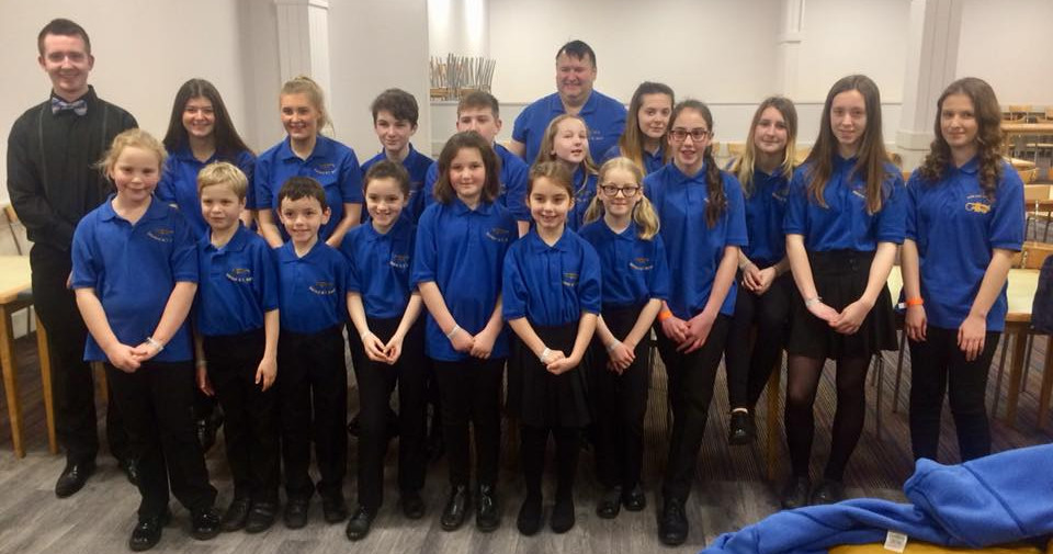 Shirland Welfare Band Junior Ensemble at the Butlins Mineworkers Brass Band Championships 2018